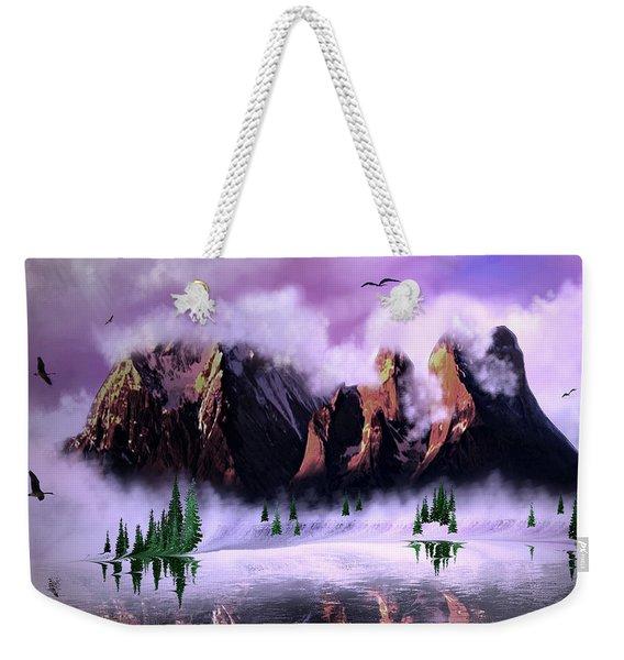 Cold Mountain Morning Weekender Tote Bag