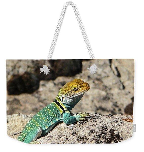 Collared Lizard Weekender Tote Bag
