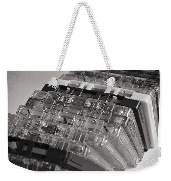 Collection Of Audio Cassettes With Domino Effect Weekender Tote Bag