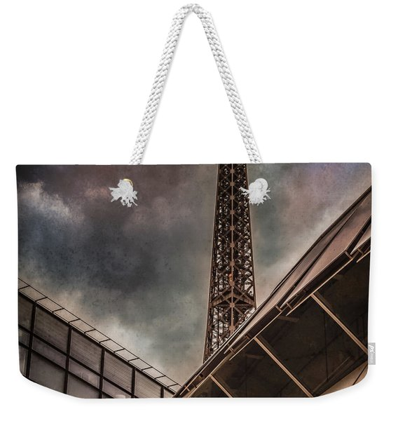 Paris, France - Colliding Grids Weekender Tote Bag
