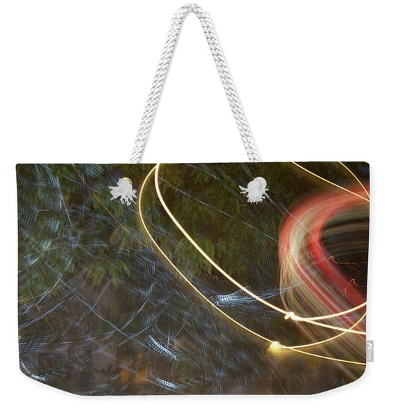 Colliding Worlds  Weekender Tote Bag