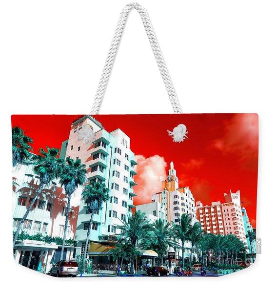 Collins Avenue Pop Art South Beach Weekender Tote Bag