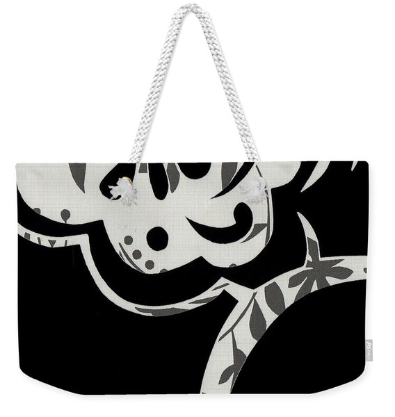 Weekender Tote Bag featuring the mixed media Collision by Writermore Arts