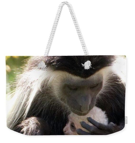 Colobus Monkey And Child Weekender Tote Bag