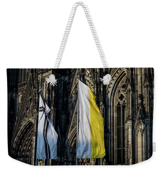 Cologne Cathedral Flags Weekender Tote Bag