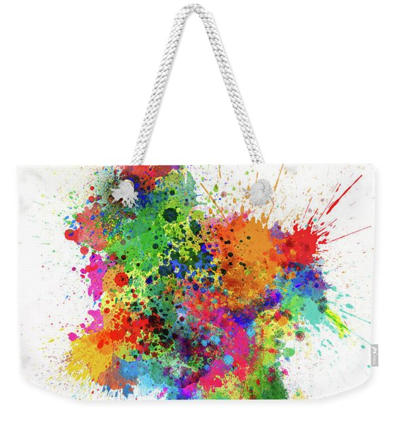 Colombia Paint Splashes Map Weekender Tote Bag