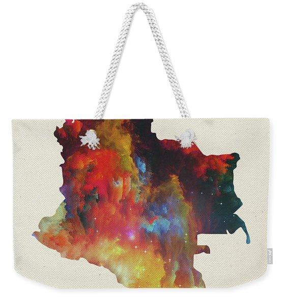 Colombia Watercolor Map Weekender Tote Bag