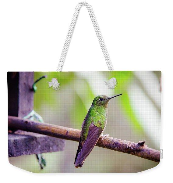 Colombian Hummingbird Weekender Tote Bag