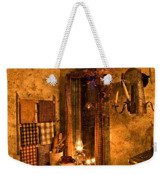 Colonial Kitchen Evening Weekender Tote Bag