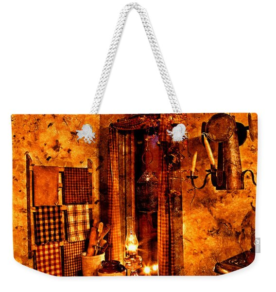 Colonial Kitchen Evening Warmth Weekender Tote Bag