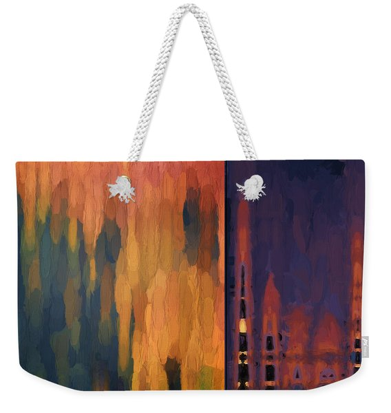 Color Abstraction Liv Weekender Tote Bag
