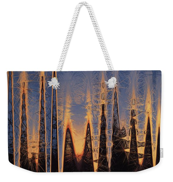Color Abstraction Xl Weekender Tote Bag
