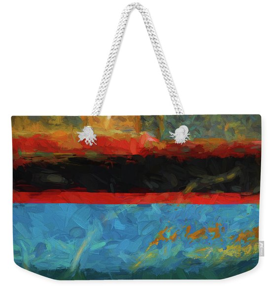 Color Abstraction Xxxix Weekender Tote Bag