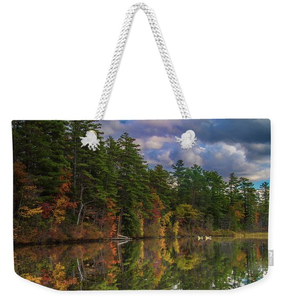 Color At Songo Pond Weekender Tote Bag