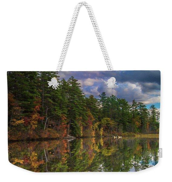 Color At Songo Pond Weekender Tote Bag