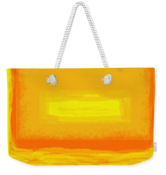 Color Field Sunset Yellow Weekender Tote Bag