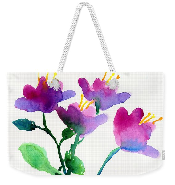 Color Flowers Weekender Tote Bag