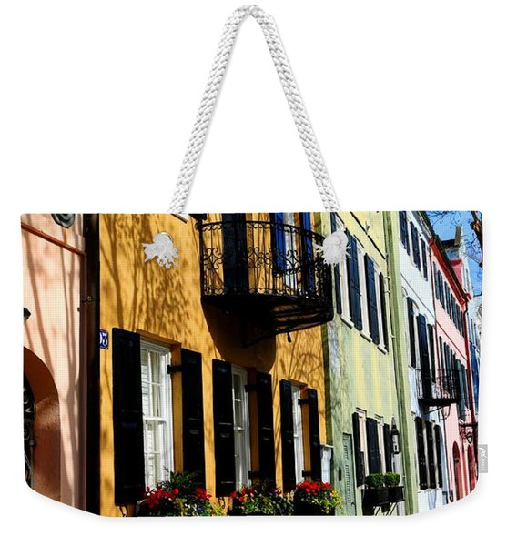 Color Of Charleston Weekender Tote Bag