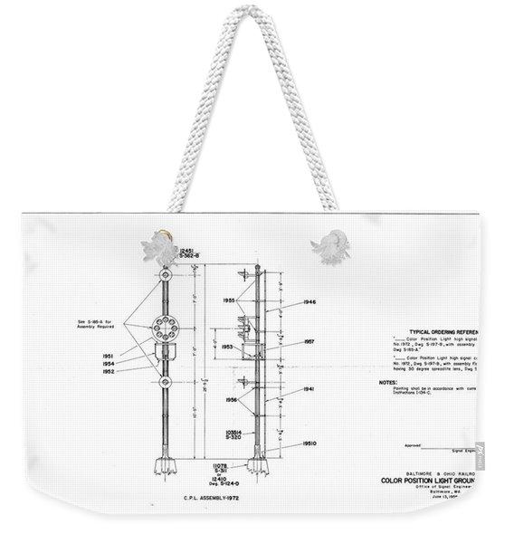 Color Position Light Ground Signals Weekender Tote Bag