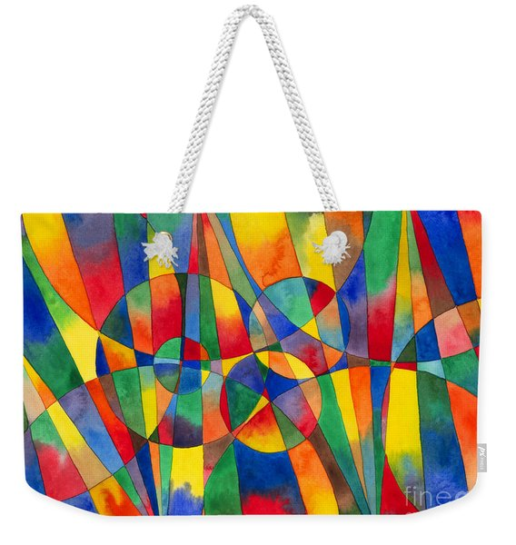 Color Shards Watercolor Weekender Tote Bag