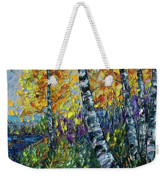 Glimpses Of Colorado Fall Colors Weekender Tote Bag