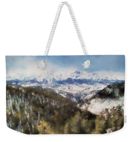 Colorado Mountains 4 Landscape Art By Jai Johnson Weekender Tote Bag