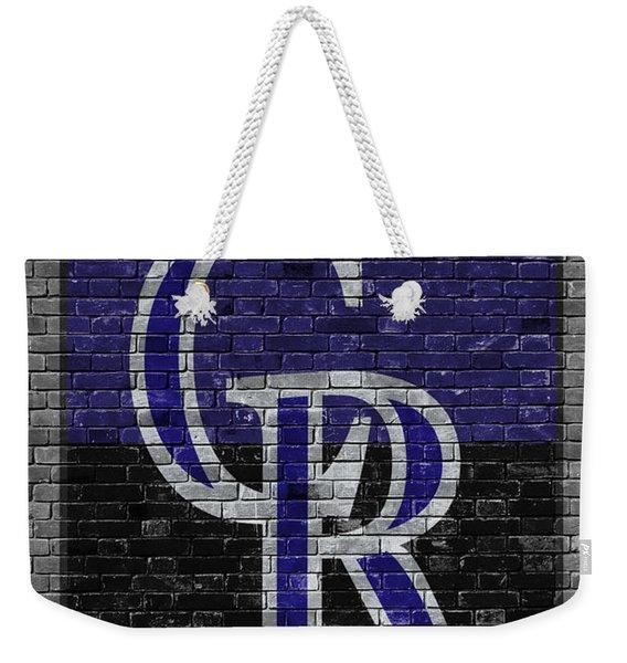 Colorado Rockies Brick Wall Weekender Tote Bag