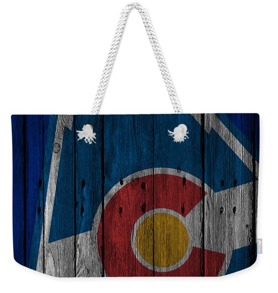 Colorado Rockies Wood Fence Weekender Tote Bag