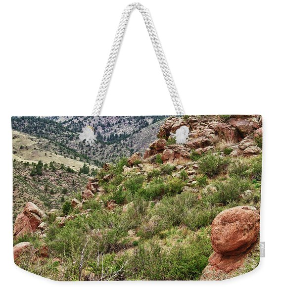 Colorado Rocky Mountains Foothills Weekender Tote Bag