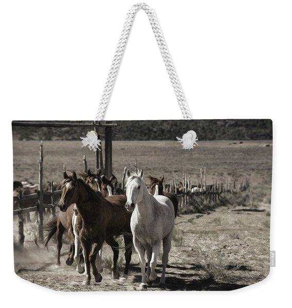 Colorado Run Weekender Tote Bag