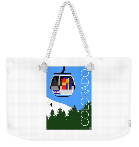 Colorado Ski Country Blue Weekender Tote Bag