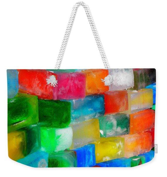 Colored Ice Bricks Weekender Tote Bag