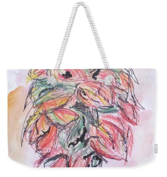 Colored Pencil Flowers Weekender Tote Bag