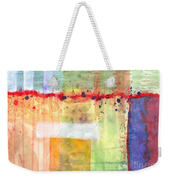 Colorfields Watercolor Weekender Tote Bag