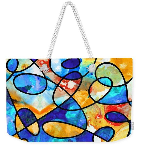 Colorful Art - Line Dance 1 - Sharon Cummings Weekender Tote Bag