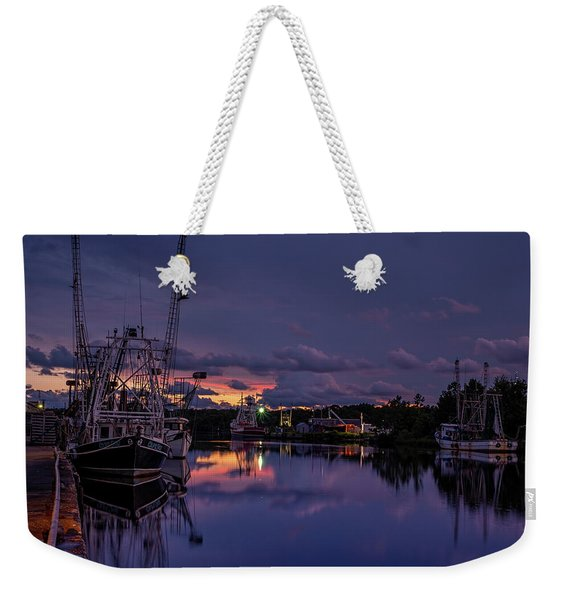 Colorful Bayou Sunset Weekender Tote Bag