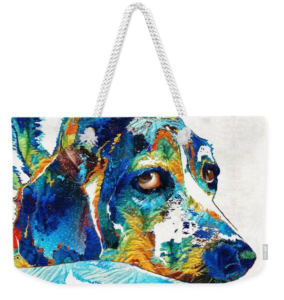 Colorful Beagle Dog Art By Sharon Cummings Weekender Tote Bag
