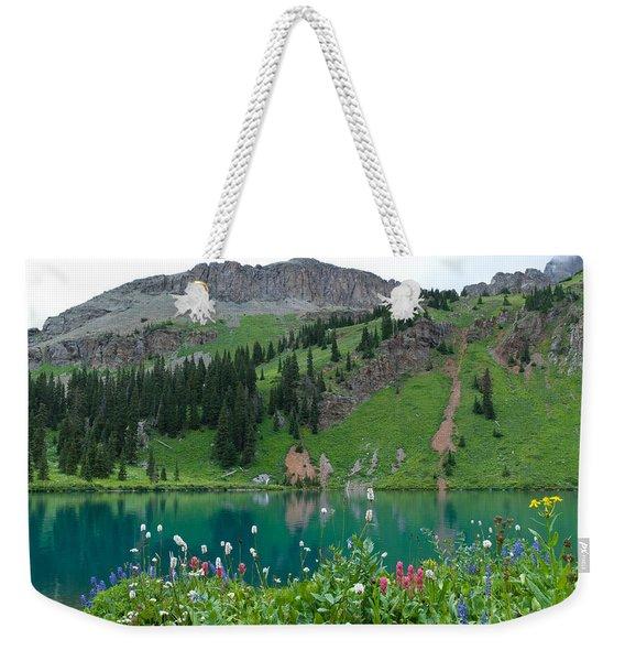 Colorful Blue Lakes Landscape Weekender Tote Bag