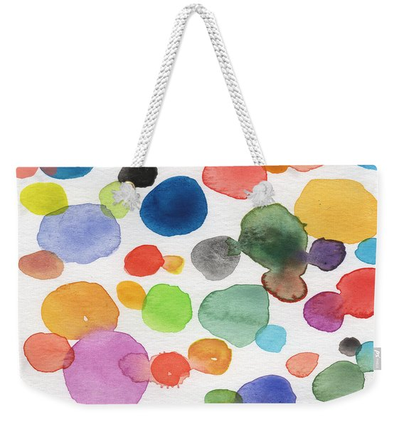 Colorful Bubbles Weekender Tote Bag