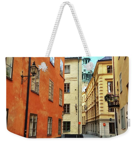 Colorful Buildings In The Old Center Of Stockholm Weekender Tote Bag