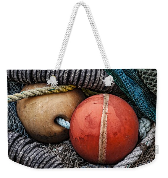 Colorful Buoys And Nets Weekender Tote Bag