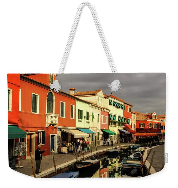 Colorful Burano Weekender Tote Bag