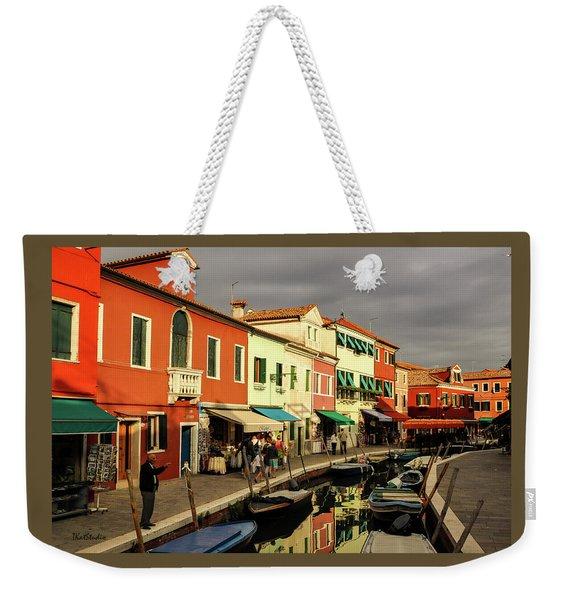 Colorful Burano Weekender Tote Bag