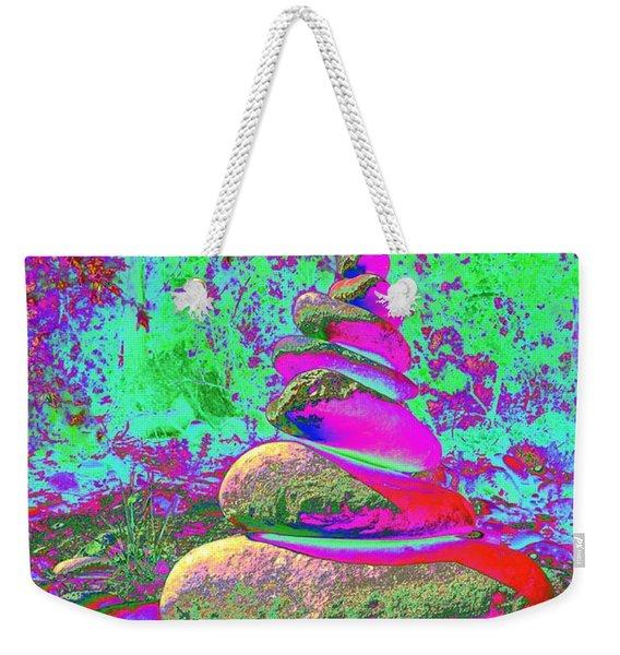 Colorful Cairn Weekender Tote Bag