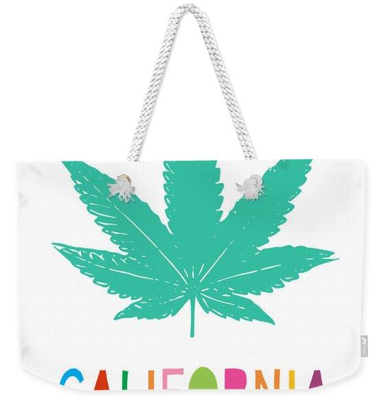 Colorful California Cannabis- Art By Linda Woods Weekender Tote Bag
