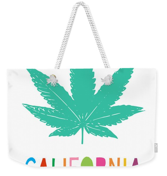 Colorful California Cannabis- Art By Linda Woods Weekender Tote Bag