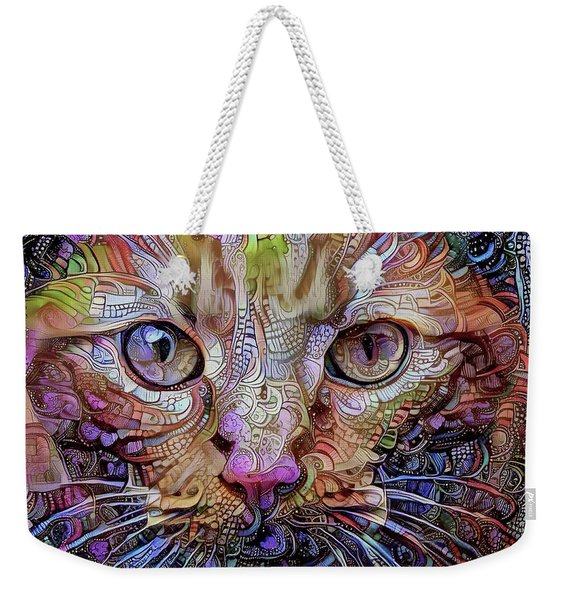 Colorful Cat Art Weekender Tote Bag