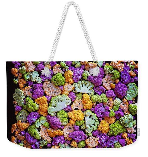 Colorful Cauliflower Mosaic Weekender Tote Bag