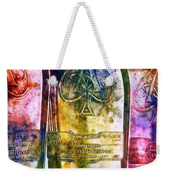 Colorful Champagne Weekender Tote Bag