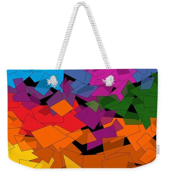 Colorful Chaos Too Weekender Tote Bag